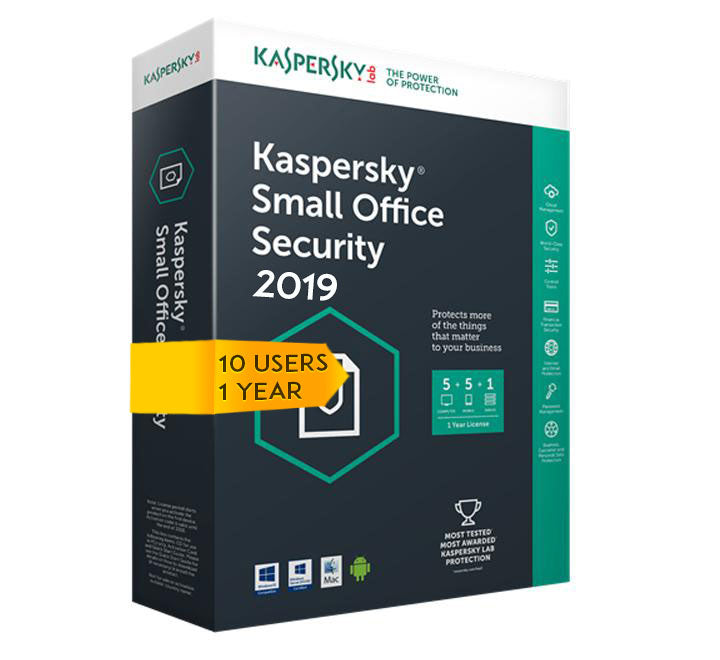 Kaspersky Small Office Security 2020 V5 for 10 desktop, 10 mobile, 1 server 1 YEAR