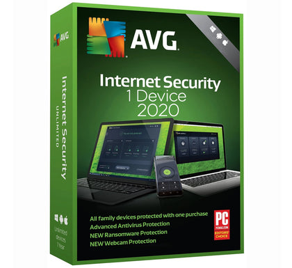 AVG Internet Security 2020 - 1 PC 1 Year