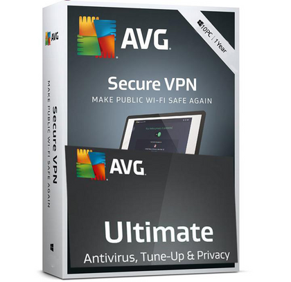 AVG Ultimate 2020 - Unlimited Devices + VPN (10 devices) 1 Year