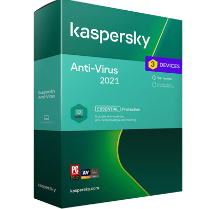 Kaspersky Antivirus 2021 - 3 Device MD 1 Year EU