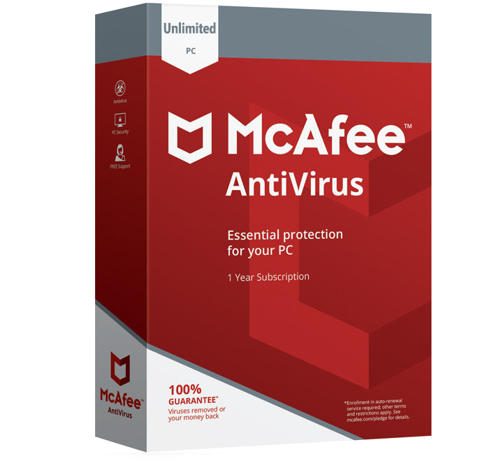 McAfee Antivirus 2020 - Unlimited Devices (10 devices) 1 Year