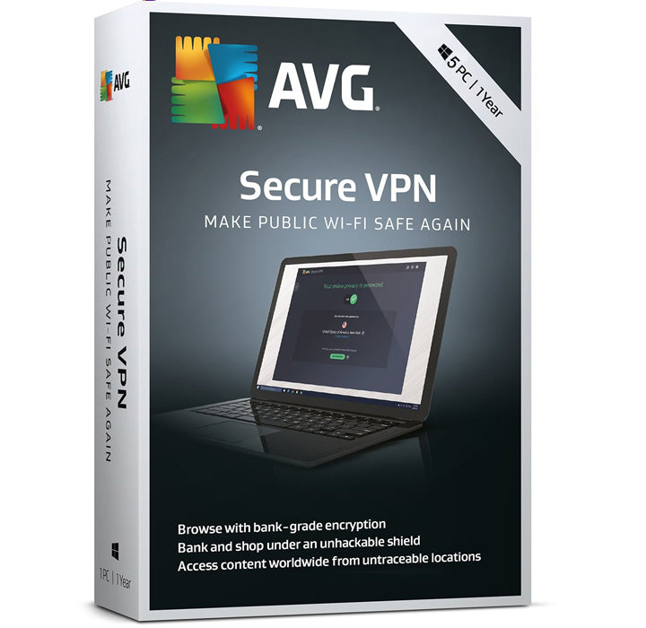AVG Secure VPN 5-Device 1-Year