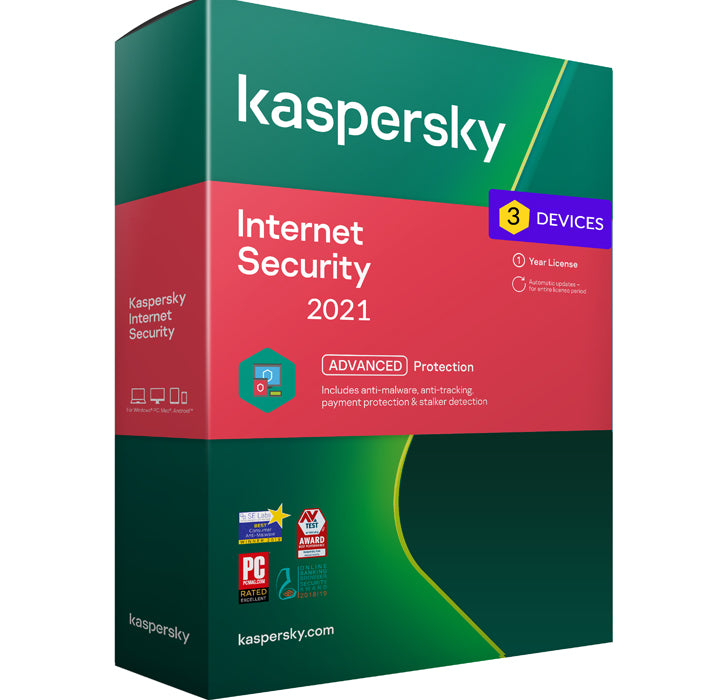 Kaspersky Internet Security 2021 - 3 Devices MD 1 Year Global Activation Key