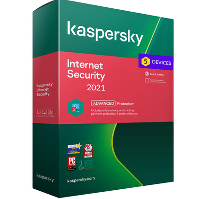 Kaspersky Internet Security 2021 - 5 Devices MD 2 Year EU