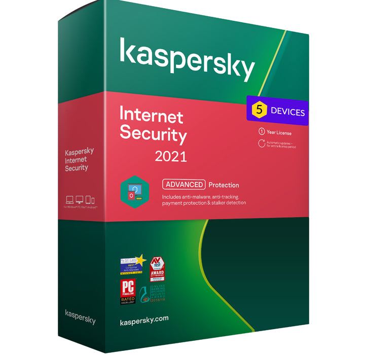 Kaspersky Internet security 2021 - 5 Devices MD 1 Year EU