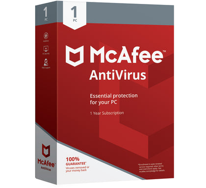 McAfee Antivirus 2021 - 1 Device 1 Year