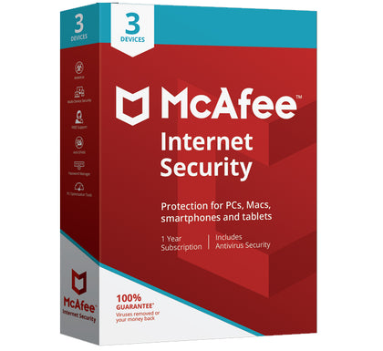 McAfee Internet Security 2020 - 3 User 1 Year