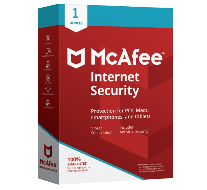 McAfee Internet Security 2020 - 1 User 1 Year