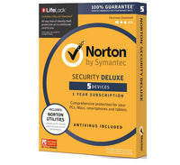 Norton Security Deluxe 5 PC 1 Year