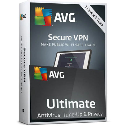 AVG Ultimate 2020 - 1 Device + VPN 3 Year