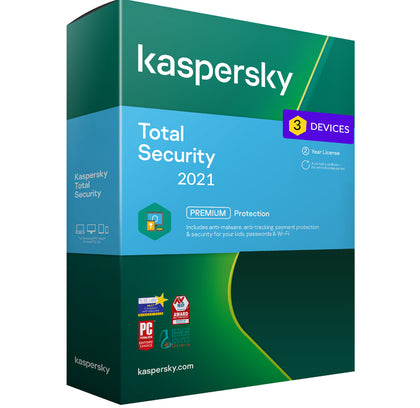 Kaspersky Total Security 2021 - 3 Devices MD 2 Year EU
