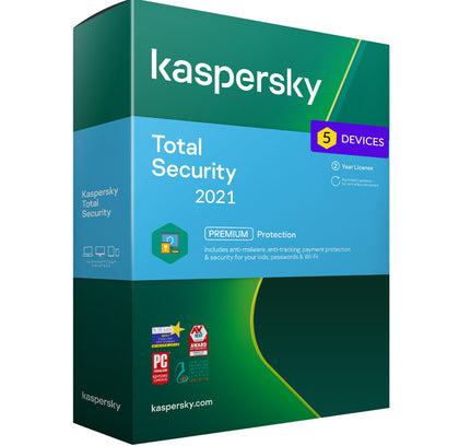 Kaspersky Total Security 2021 - 5 Devices MD 2 Year EU