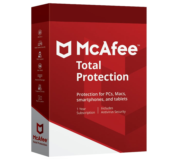 McAfee Total Protection 2020 - Unlimited Users (10 devices) 1 Year
