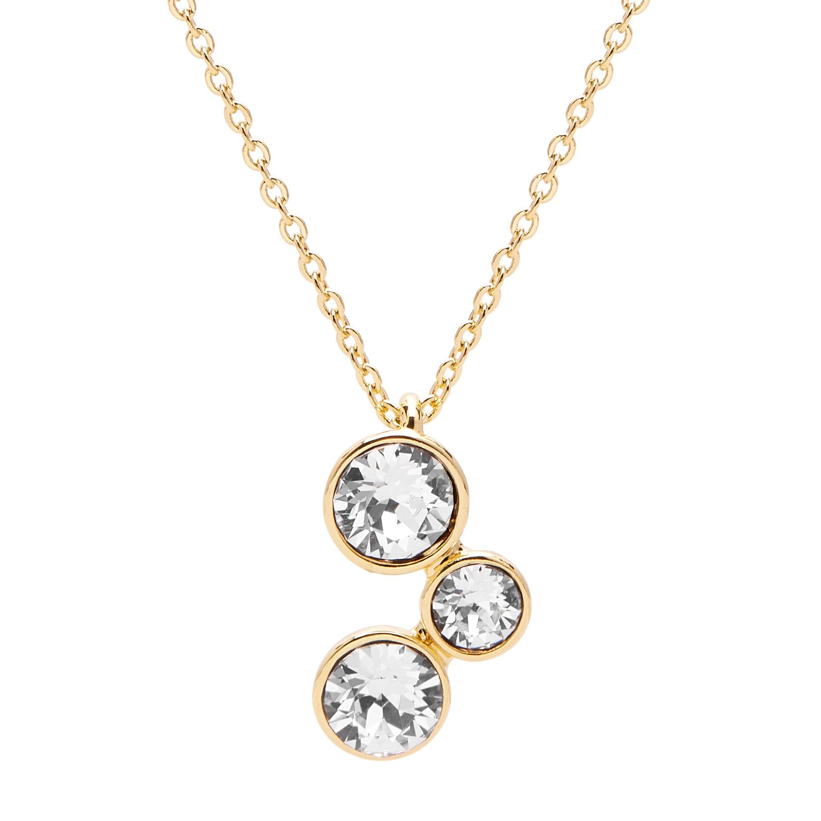 Aura 18k Gold Plated Pendant Necklace with 3 Crystals from Swarovski¨ - Harpson Accessories