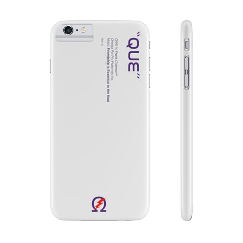 Omega Psi Phi Phone Case - White (Snap)
