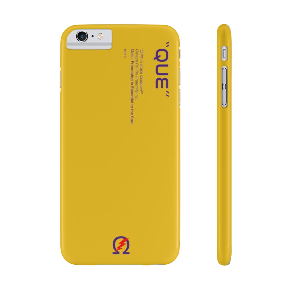 Omega Psi Phi Phone Case - Yellow (Snap)