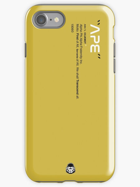Alpha Phi Alpha Phone Case - Gold