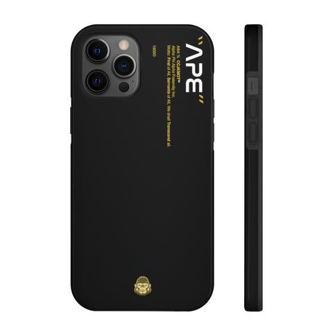 Alpha Phi Alpha Phone Case - Black (Tough)