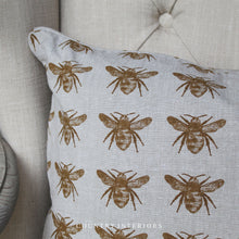 Load image into Gallery viewer, Recycled Bee Cushion - Mustard