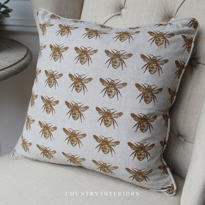 Bee Cushion - Mustard