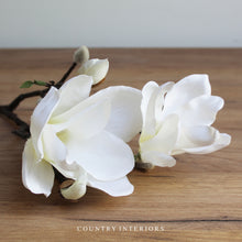 Load image into Gallery viewer, White Magnolia Stem