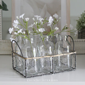 Wire Basket with Bottles