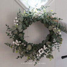 Load image into Gallery viewer, Large Eucalyptus & White Berry Wreath