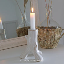 Load image into Gallery viewer, White Ceramic Candle Holder - Height 15cm