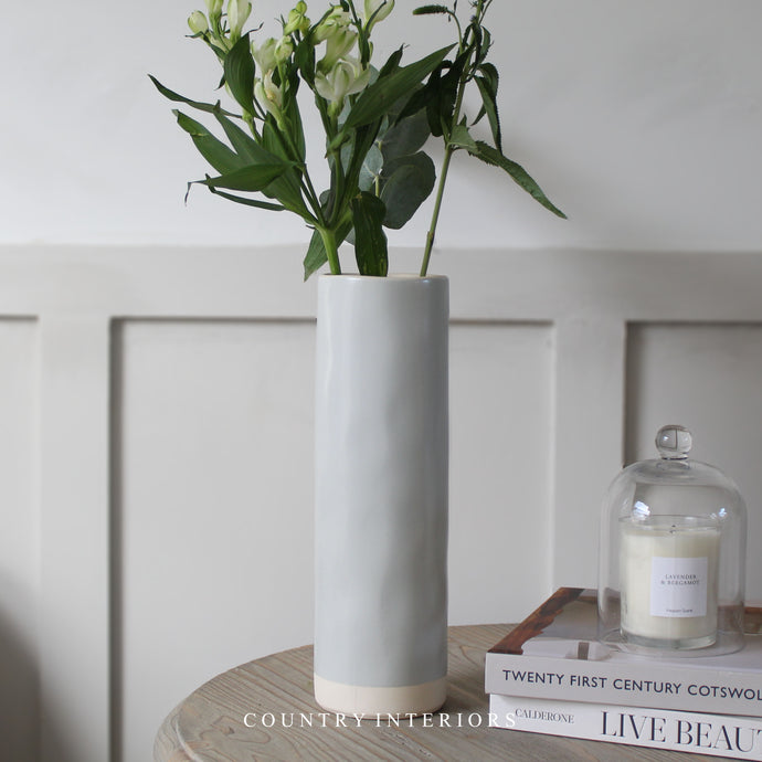 Speckled Tall Cylinder Vase