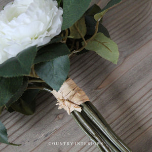 Faux White & Green Bouquet