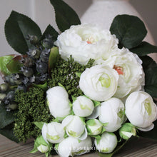 Load image into Gallery viewer, Faux White & Green Bouquet