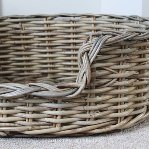 Oval Kubu Rattan Dog Bed - Medium