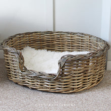 Load image into Gallery viewer, Oval Kubu Rattan Dog Bed - Medium