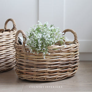 Oval Rattan Basket - Small