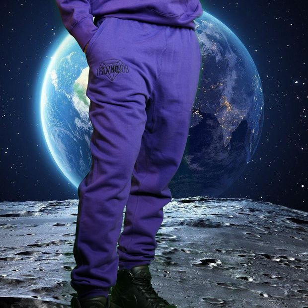 Team No Job Purple Retro Sweat Pants