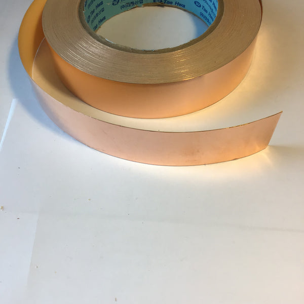 "Copper shielding tape, 1"" wide, self-adhesive, per ft"