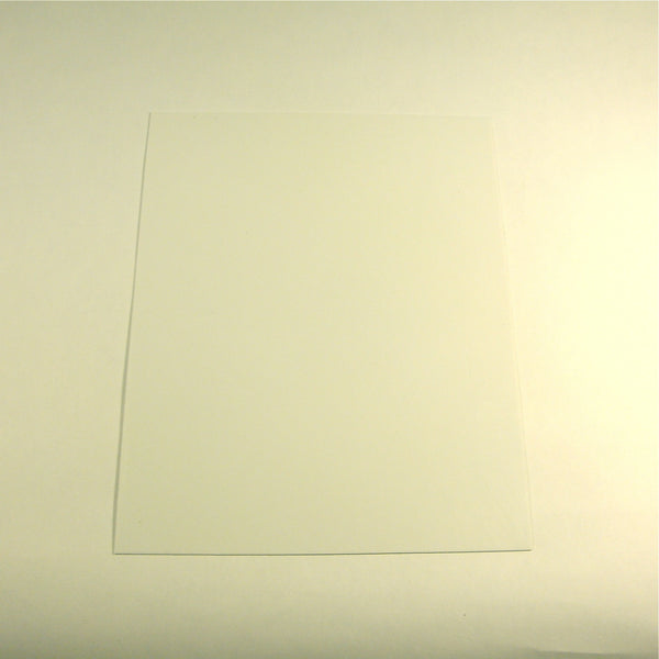 Pickguard material, self-adhesive, white