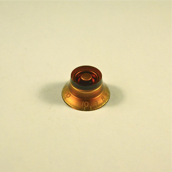 Volume/tone knob, transparent amber, LEFTY