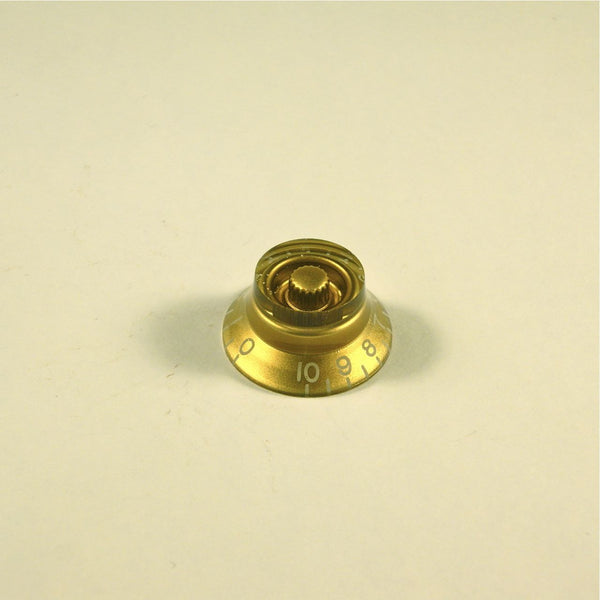Volume/tone knob, transparent gold, LEFTY