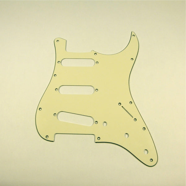 Stratocaster pickguard, 3-ply Vintage White