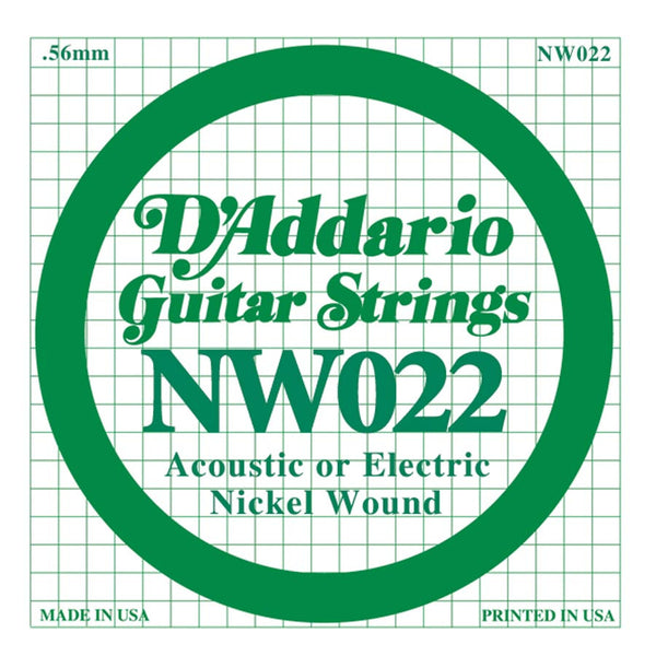 Daddario NW-022 single nickel wound string, .022