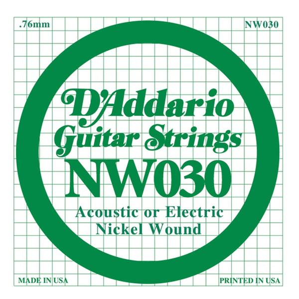 Daddario NW-030 single nickel wound string, .030