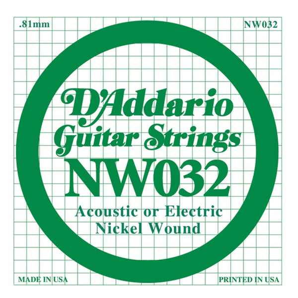Daddario NW-032 single nickel wound string, .032