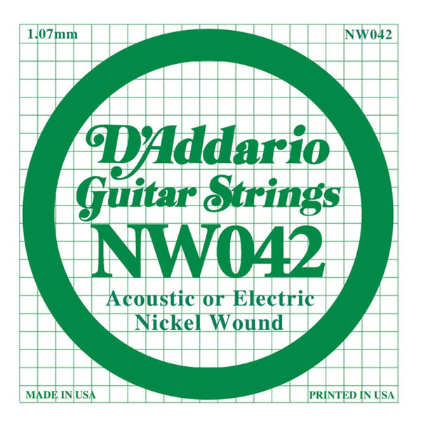 Daddario NW-042 single nickel wound string, .042