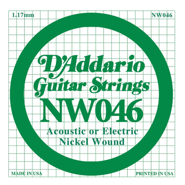 Daddario NW-046 single nickel wound string, .046