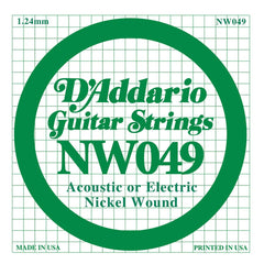 Daddario NW-049 single nickel wound string, .049