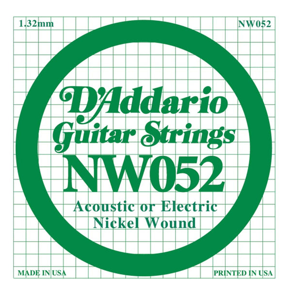 Daddario NW-052 single nickel wound string, .052