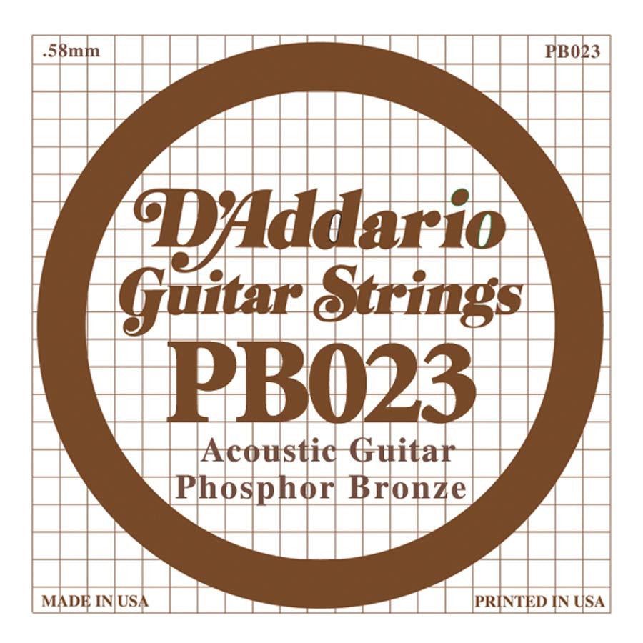 Daddario PB-023 single phosphor bronze wound string, .023