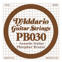 Daddario PB-030 single phosphor bronze wound string, .030