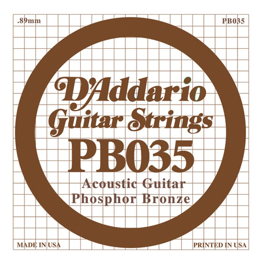 Daddario PB-035 single phosphor bronze wound string, .035